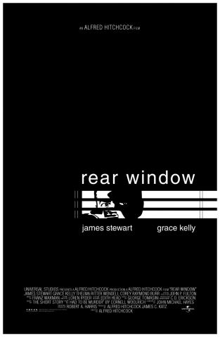 плакат фильма постер любительское Окно во двор