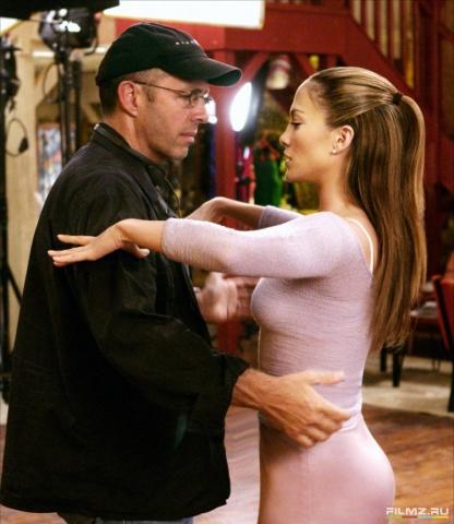 со съемок Давайте потанцуем Питер Челсом, Дженнифер Лопес,