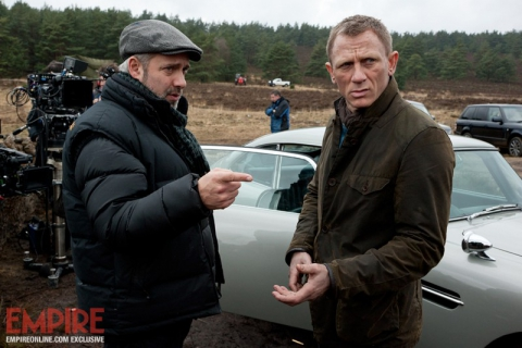 со съемок 007 Координаты Скайфолл Сэм Мендес, Дэниел Крэйг,