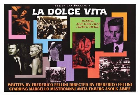 плакат фильма биллборды Сладкая жизнь