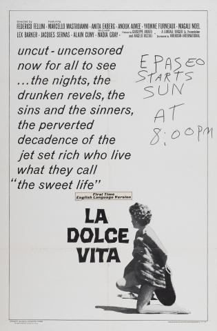 плакат фильма Сладкая жизнь