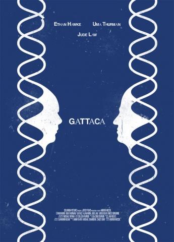 плакат фильма любительское постер Гаттака