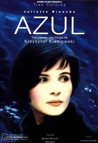 плакат фильма постер Три цвета: Синий