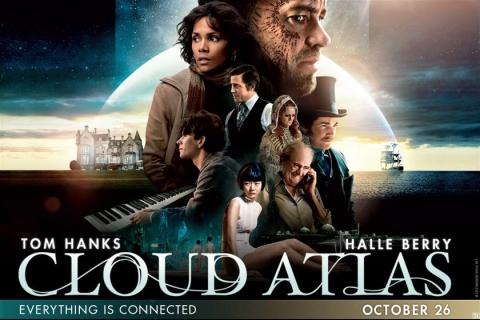 плакат фильма биллборды Облачный атлас