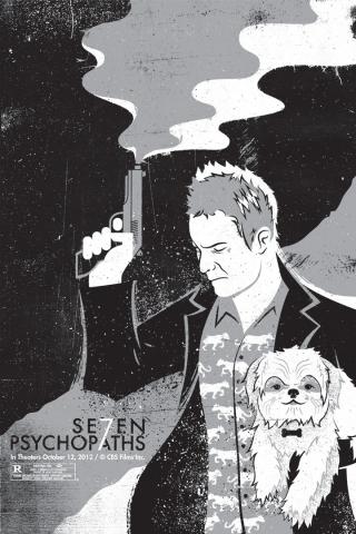 плакат фильма арт-постеры Семь психопатов