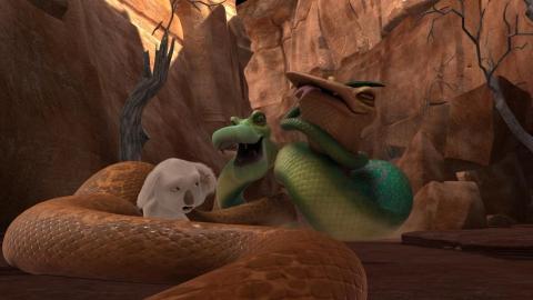 кадры из фильма Пушистые против зубастых