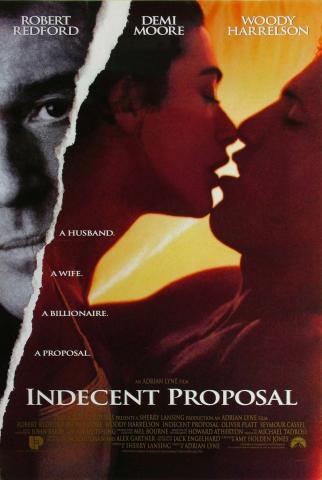 плакат фильма Непристойное предложение