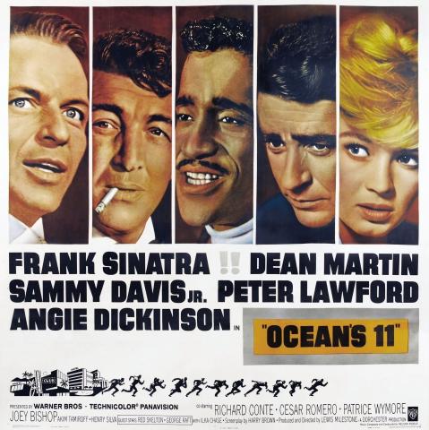 плакат фильма биллборды Одиннадцать друзей Оушена