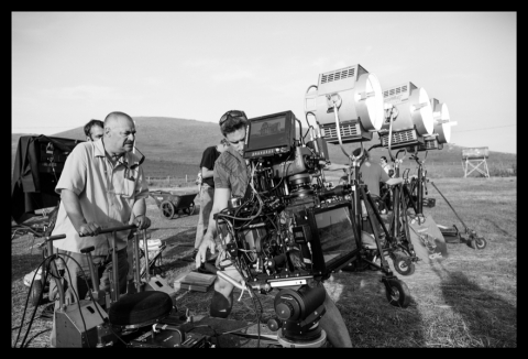 со съемок Невероятное путешествие мистера Спивета Жан-Пьер Жене,
