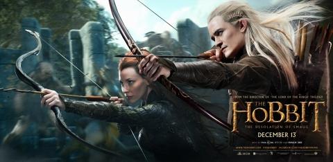 плакат фильма характер-постер баннер Хоббит: Пустошь Смауга