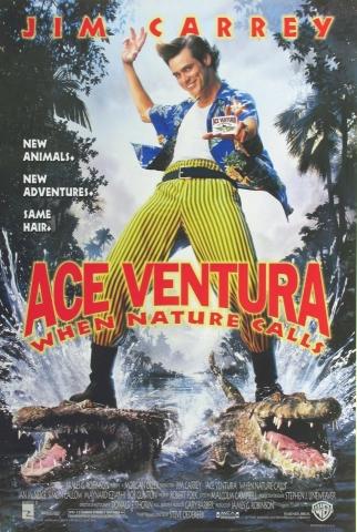 плакат фильма постер Эйс Вентура: Когда зовет природа