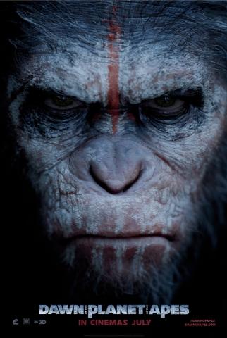 плакат фильма характер-постер Планета обезьян: Революция