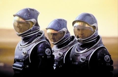 кадры из фильма Красная планета Бенджамин Братт, Том Сайзмор, Вэл Килмер,