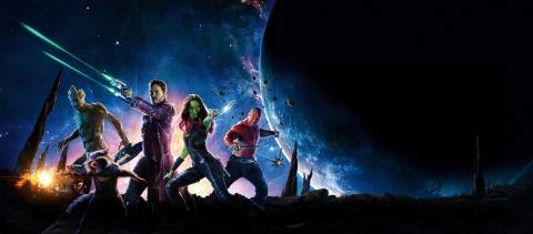плакат фильма баннер textless Стражи Галактики