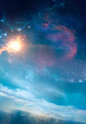 плакат фильма характер-постер textless Стражи Галактики