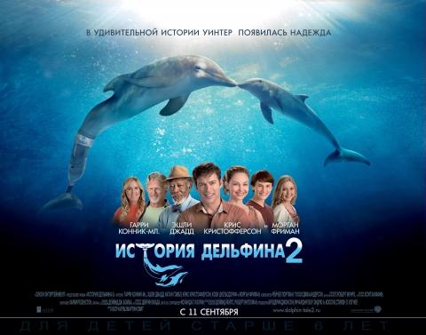 плакат фильма биллборды локализованные История дельфина 2