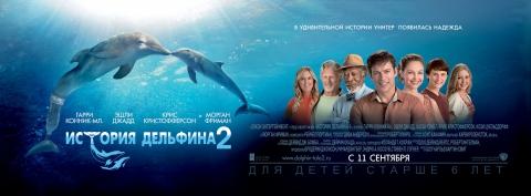 плакат фильма баннер локализованные История дельфина 2