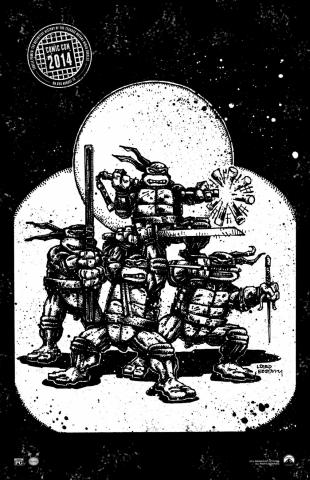 плакат фильма арт-постеры Черепашки-ниндзя