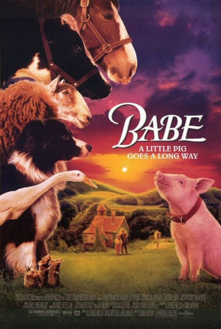 плакат фильма постер Бэйб: Четвероногий малыш