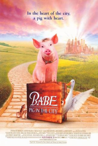 плакат фильма постер Бэйб: Поросенок в городе