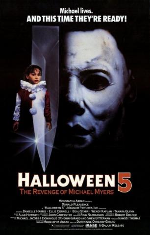 плакат фильма постер Хэллоуин 5: Месть Майкла Майерса