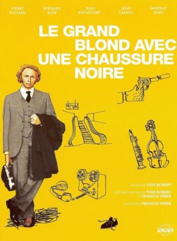 плакат фильма DVD Высокий блондин в черном ботинке
