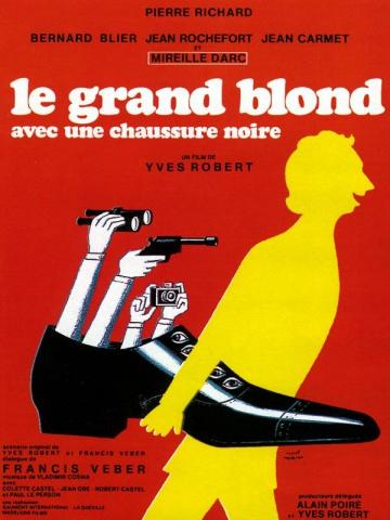 плакат фильма постер Высокий блондин в черном ботинке