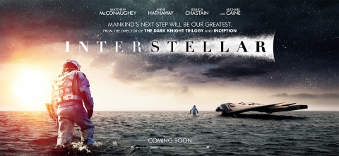 плакат фильма баннер Интерстеллар