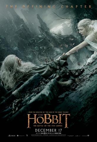 плакат фильма постер Хоббит: Битва пяти воинств