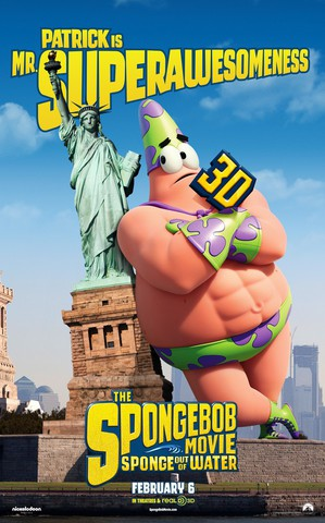 плакат фильма характер-постер Губка Боб в 3D