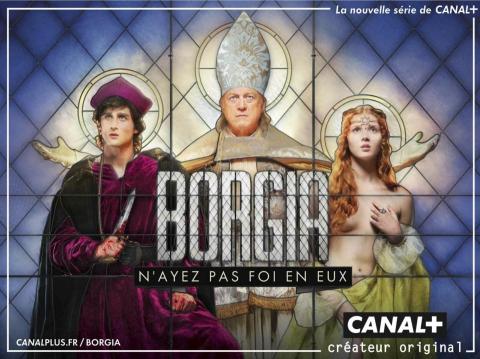 плакат фильма биллборды Борджиа