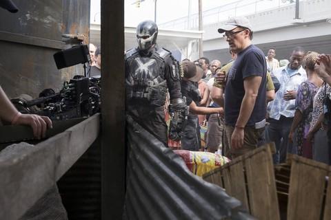 со съемок Первый Мститель: Противостояние Энтони Руссо,