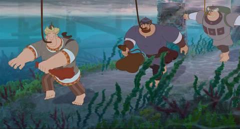 кадр №234444 из фильма Три богатыря и Морской царь