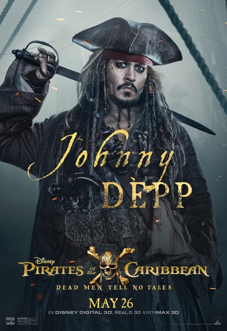 плакат фильма характер-постер Пираты Карибского моря: Мертвецы не рассказывают сказки