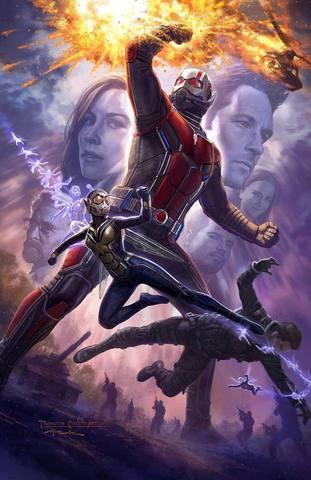 плакат фильма концепт-арты постер Человек-Муравей и Оса
