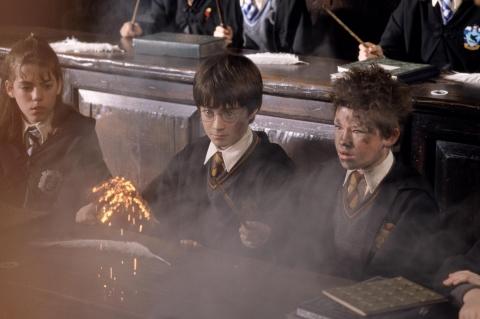 кадры из фильма Гарри Поттер и Философский камень Дэниэл Рэдклифф, Девон Мюррей,