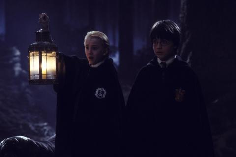 кадры из фильма Гарри Поттер и Философский камень Том Фелтон, Дэниэл Рэдклифф,