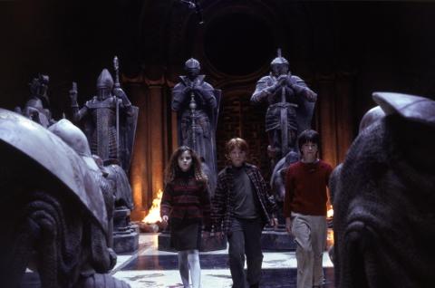 кадры из фильма Гарри Поттер и Философский камень Эмма Уотсон, Руперт Гринт, Дэниэл Рэдклифф,