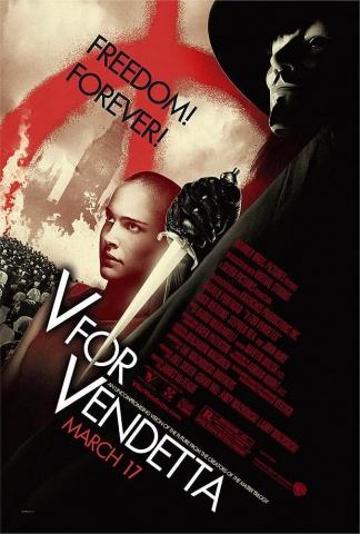 плакат фильма «V» значит вендетта
