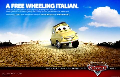 плакат фильма Тачки