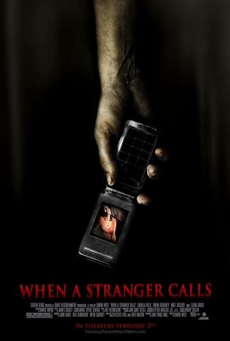 плакат фильма постер Когда звонит незнакомец