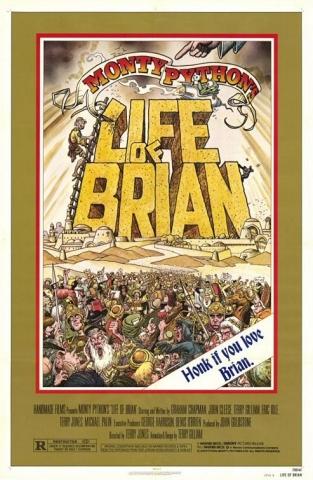 плакат фильма Житие Брайана по Монти Пайтон