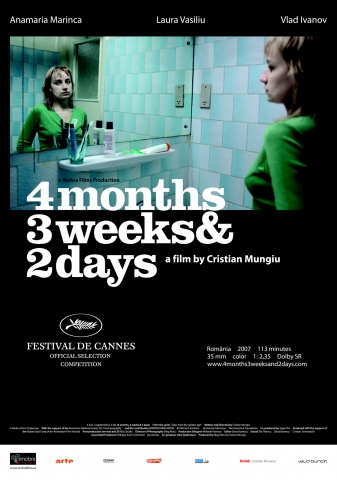 плакат фильма 4 месяца, 3 недели и 2 дня