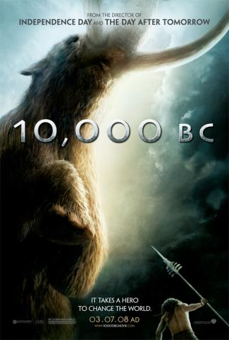 плакат фильма 10 000 лет до н.э.