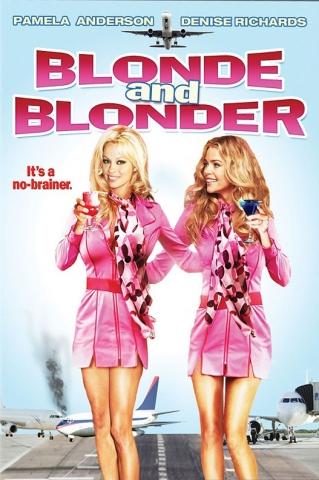 плакат фильма Блондинка и блондинка