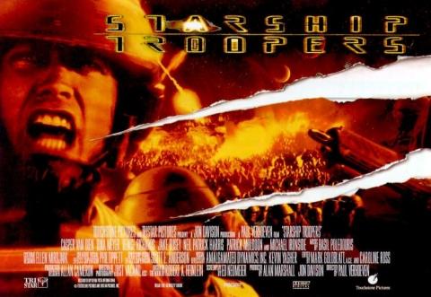 плакат фильма биллборды Звездный десант
