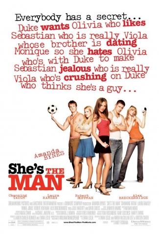 плакат фильма Она — мужчина