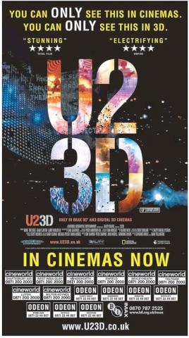 плакат фильма U2 3D