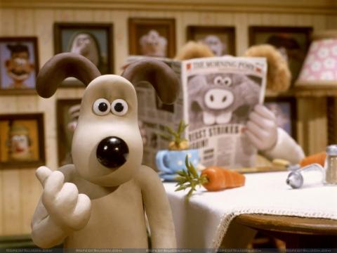 кадр №3110 из фильма Уоллес и Громит: Проклятие кролика-оборотня