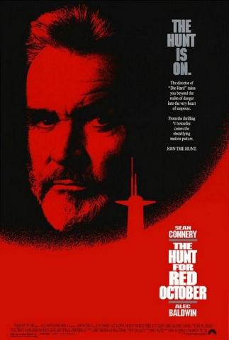 плакат фильма Охота за «Красным октябрем»